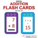 FREE Digital Addition Flash Cards in Color eBook Download