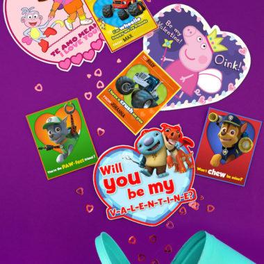 Nick Jr. Printable Valentines