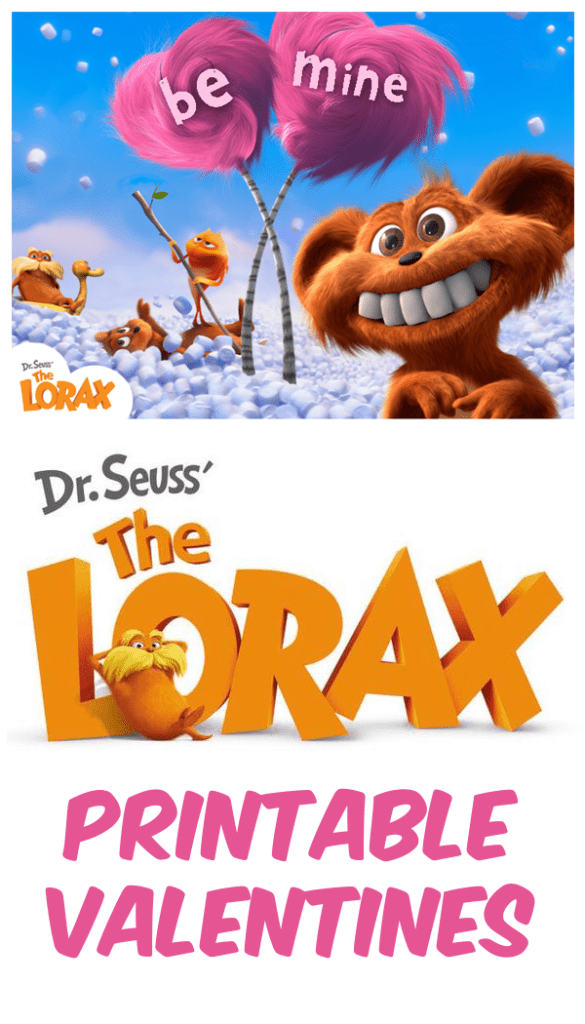 Dr. Seuss' The Lorax Free Printable Valentines