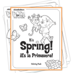 """FREE Printable Dora """"It's Spring"""" Coloring Pack"""