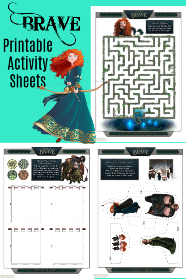 Brave Printable Activity Sheets