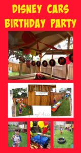 Our Disney Cars Theme Birthday Party Decorations, Games and Activities