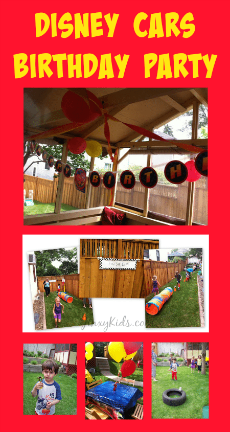 Our Disney Cars Theme Birthday Party Decorations Games And
