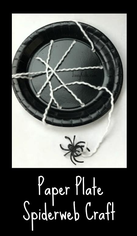 Paper Plate Spiderweb Craft