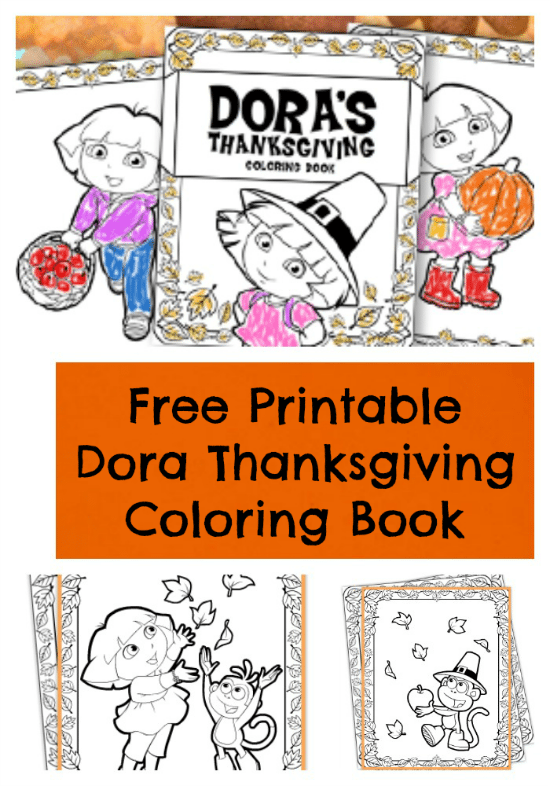 Free Printable Dora Thanksgiving Coloring Pages Jinxy Kids