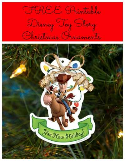 FREE Printable Disney Christmas Ornaments