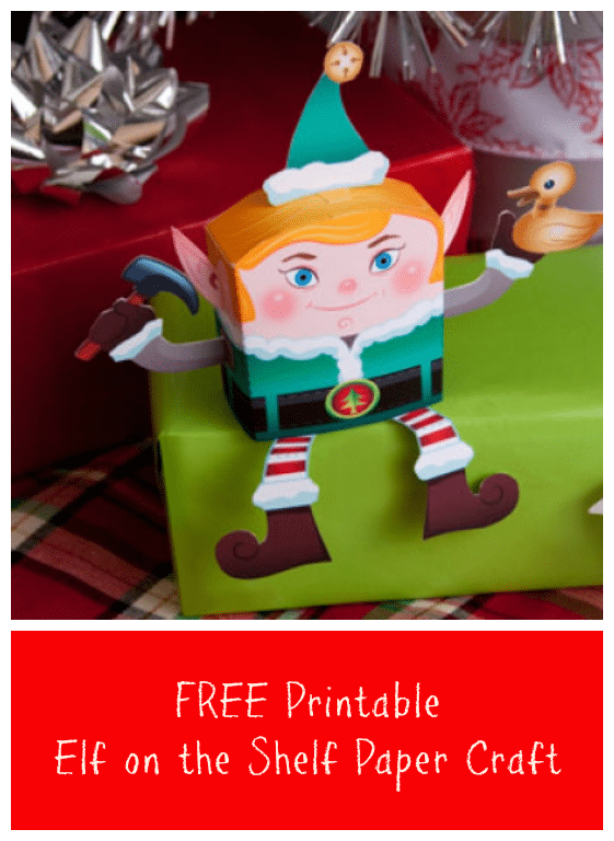 graphic about Free Printable Paper Crafts known as Cost-free Printable Elf upon the Shelf Paper Craft - Jinxy Youngsters