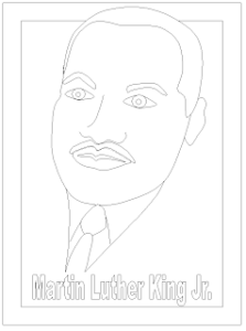 Free Martin Luther King, Jr. Day Printable Coloring Page