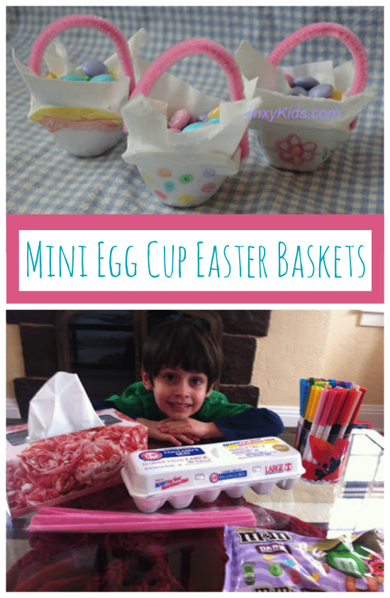Mini Egg Cup Easter Baskets Craft Project for Kids