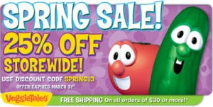 25% Off Everything at VeggieTales