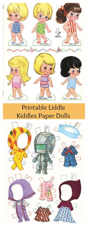 Free Printable Little Kiddles Paper Dolls