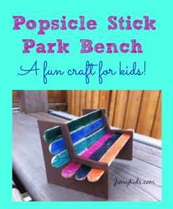 Fun Craft Idea: How to Make a Popsicle Stick Park Bench