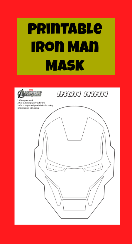 photograph regarding Iron Man Mask Printable identified as Printable Iron Person Mask towards Colour #IronMan3Party - Jinxy Young children