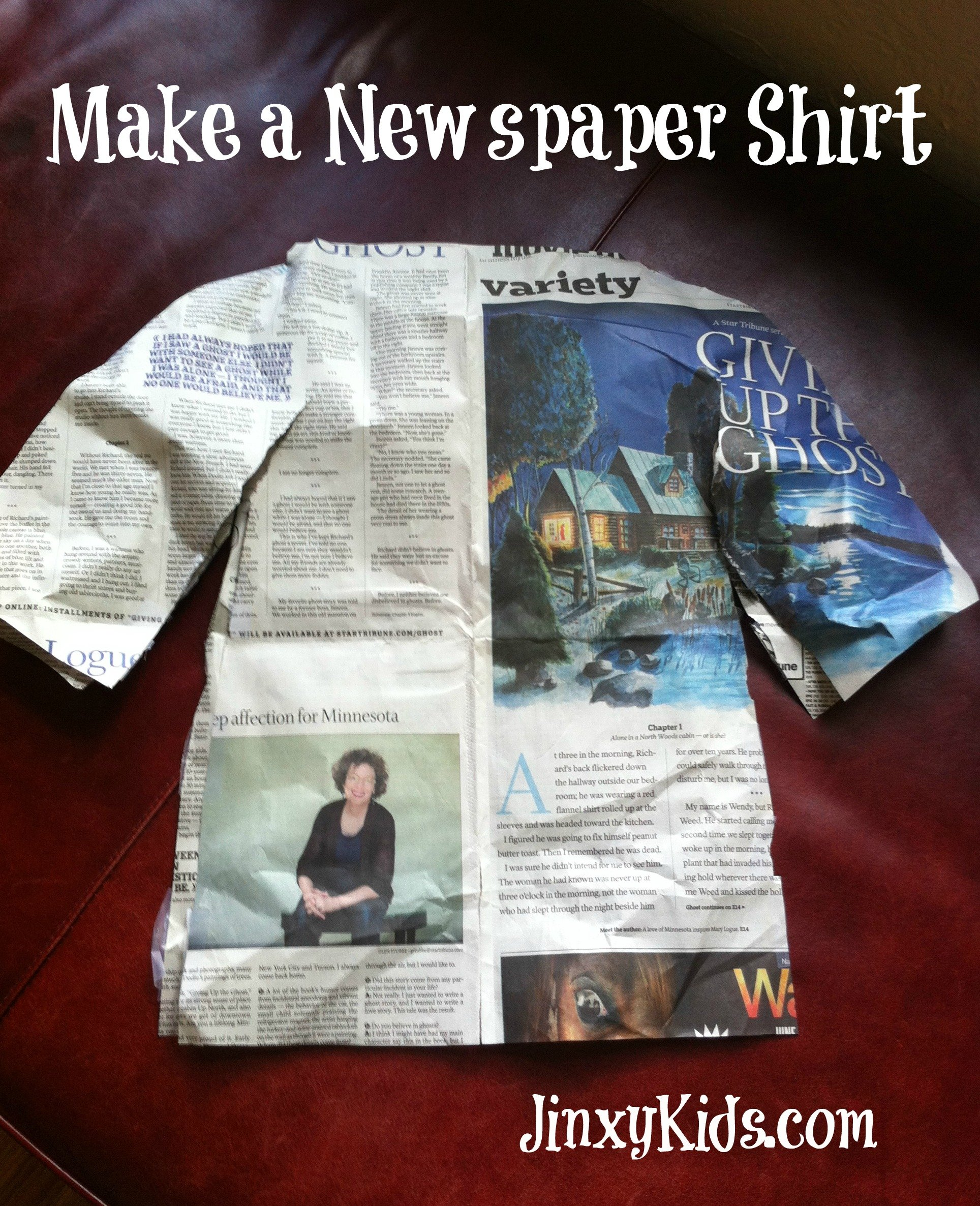Newspaper Shirt Craft Project