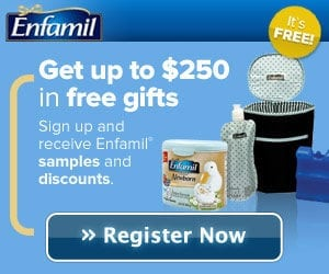 $250 in Free Gifts from Enfamil Family Beginnings