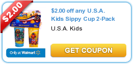 $2/1 USA Kids Sippy Cup Coupon = $1.74 Each at Walmart!
