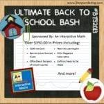 Ultimate Back to School Bash – Huge $350 Reader Giveaway!