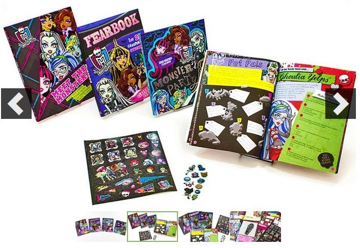 4 Monster High Books  Stickers Only 1999 Shipped  Jinxy Kids