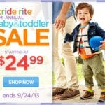 Stride Rite Semi-Annual Baby and Toddler Sale