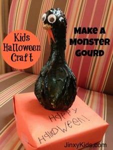 Monster Gourd Halloween Craft Project