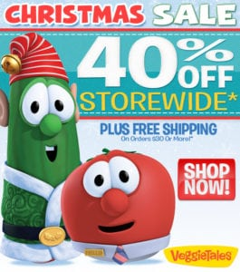 VeggieTales 40% Off Everything Plus FREE Shipping!