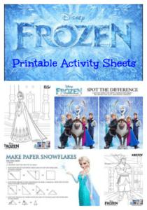 Disney's FROZEN Sing-Along Clip + Printable Activity Sheets