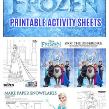 Free Printable FROZEN Activity Sheets