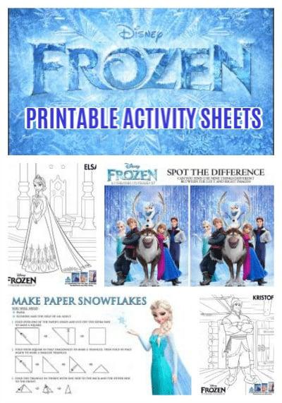 Disney's FROZEN Printable Activity Sheets - Jinxy Kids