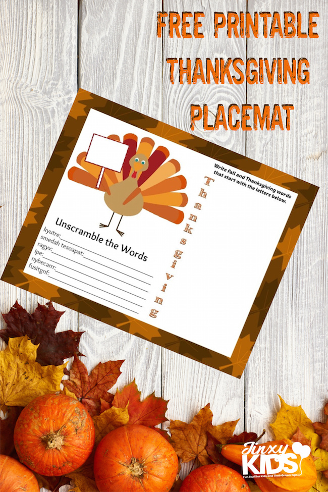 Thanksgiving Placemats for Kids (1)