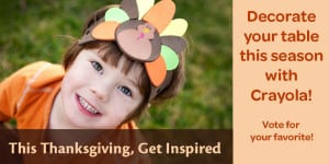 Color Your Thanksgiving with Crayola