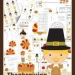 FREE Thanksgiving Printable Pack for Pre-Schoolers!