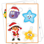 FREE Easy Printable Dora Christmas Ornaments