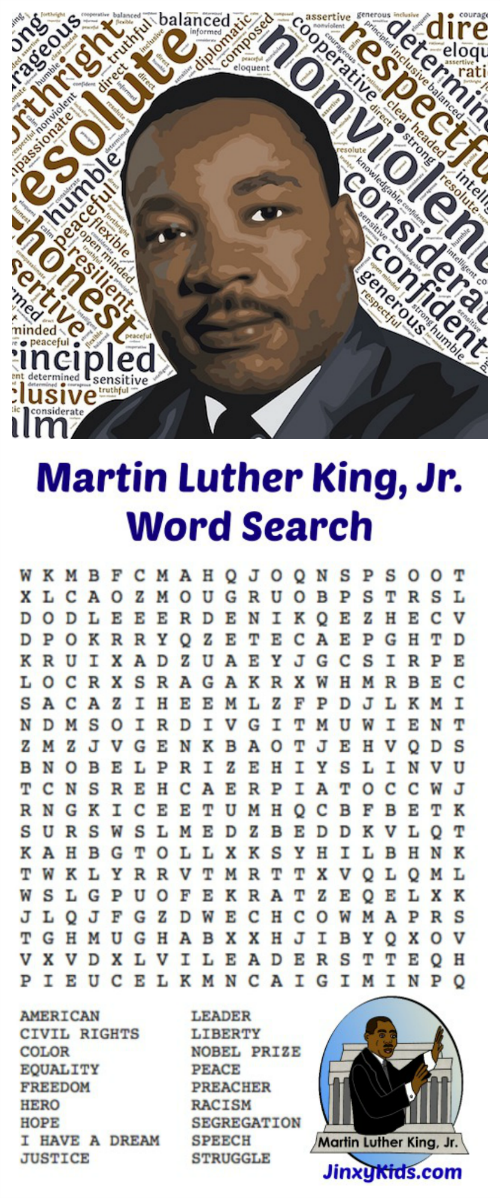 Celebrate the life of Martin Luther King, Jr. an help children learn about history with this FREE Printable Martin Luther King, Jr. Word Search Puzzle.