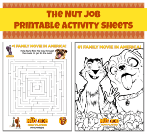 The Nut Job FREE Printable Activity Sheets