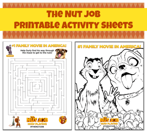 the nut job activity sheets