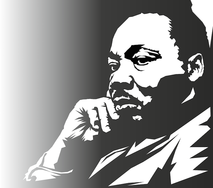 Martin Luther King Jr. Sketch in Black and White
