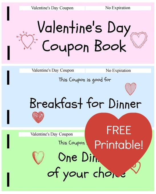 Free Printable Valentine Coupon Book  Thrifty Jinxy