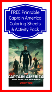FREE Printable Captain America Coloring Sheets and Activity Pack