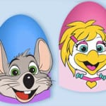 Chuck E. Cheese's Printable Easter Egg Holders
