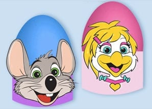 Chuck E. Cheese's Printable Easter Egg Holders