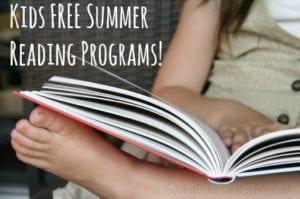 Free Kids Summer Reading Programs