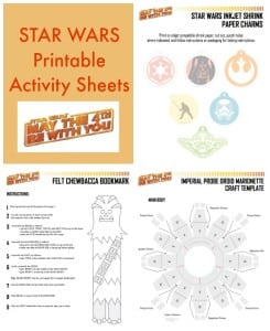 Star Wars Printable Activity Sheets with Crafts and Recipes #StarWarsRebelsEvent