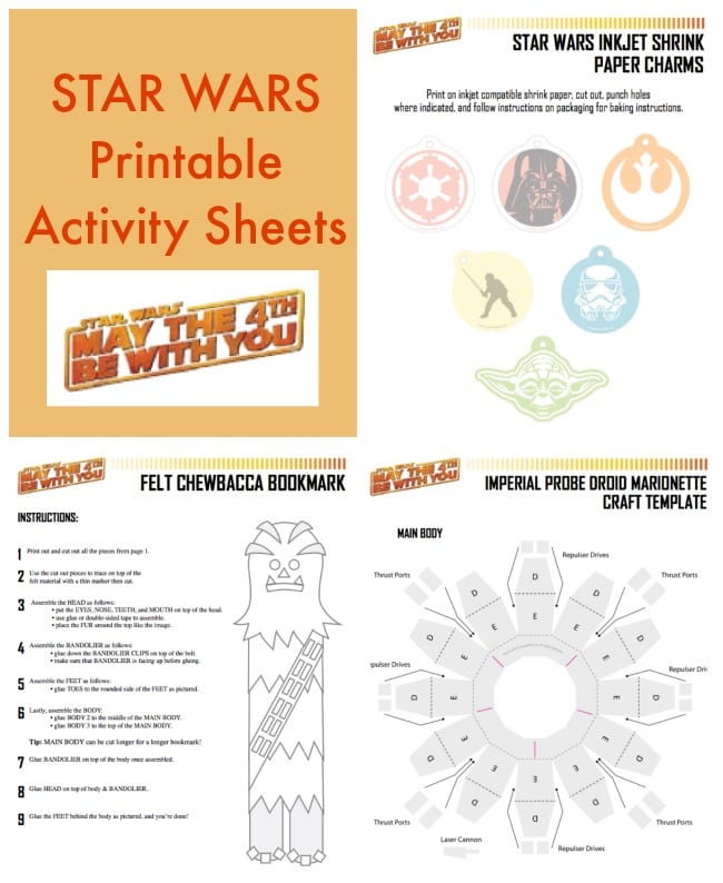 picture regarding Star Wars Printable Crafts called Star Wars Printable Game Sheets with Crafts and Recipes