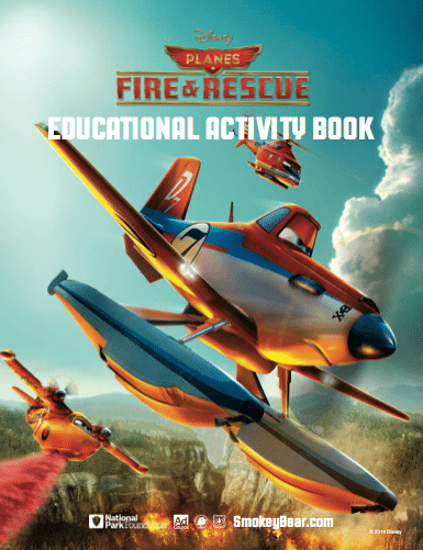 Printable Planes: Fire & Rescue Educational Activity Book