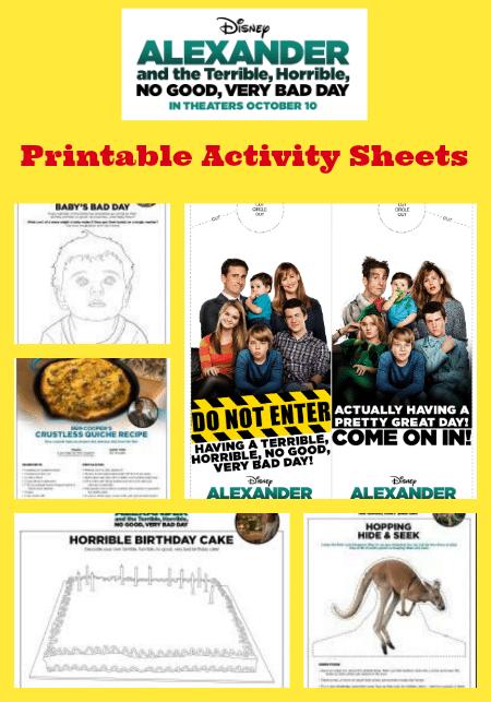 Alexander Printable Activity Sheets