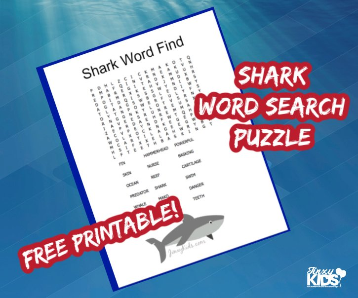 SHARK WORD SEARCH PUZZLE