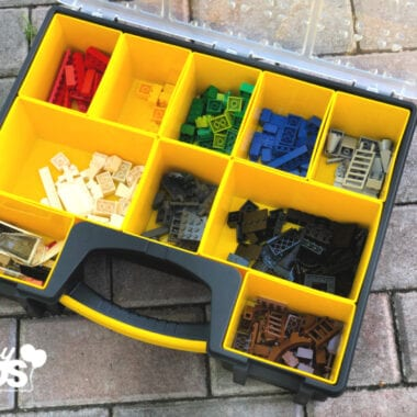 LEGO stored in tool box