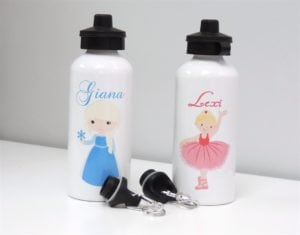 Adorable Customized Character Water Bottles only $11.99! (reg $25)