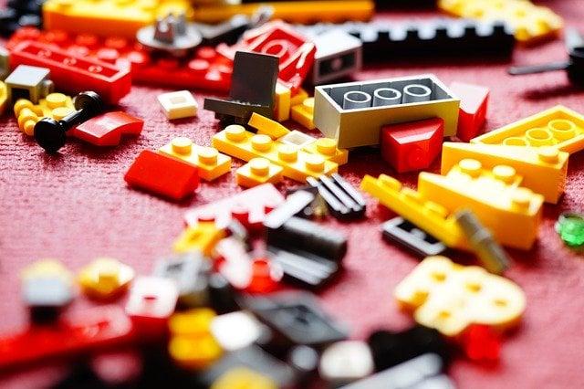 lego bricks on carpet