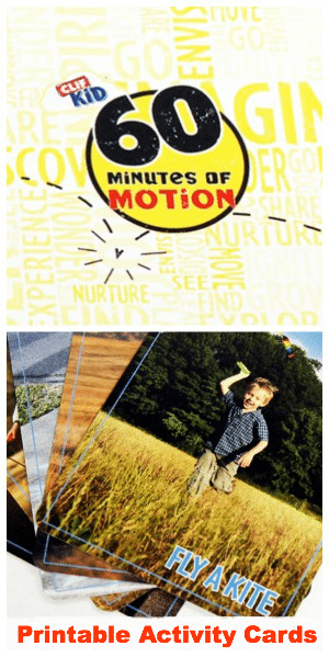 60 Minutes of Motion Printable Activity Cards